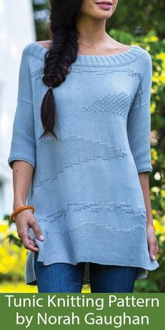 Knitting Pattern for Landscape Pullover Sweater by Norah Gaughan Animal Knitting Patterns, Sweater Knitting Patterns, Knit Patterns, Stitch Patterns, Tunic Sweater, Pullover Sweaters, Hand Crochet, Knit Crochet, Crochet Patterns For Beginners