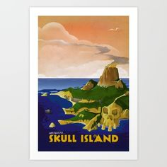 Ah art deco! What a wonderful age. This looks like a lovely place to visit. Certianly there are no  great apes or King Kong here!<br/> <br/> King kong, art deco, skull island, retro, vintage, travel, poster, art deco, golden age