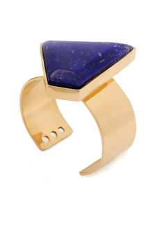 Aga Cuff #kellywearstler #jewelry #lapis #unique #cuff #gold