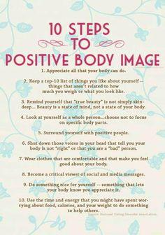 10 passos para um corpo ter imagem positiva! 10 steps to positive body image !! #fitness #body