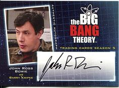 The Big Bang Theory Season 5 Autograph Card A15 John Ross Bowie as Barry Kripke @ niftywarehouse.com