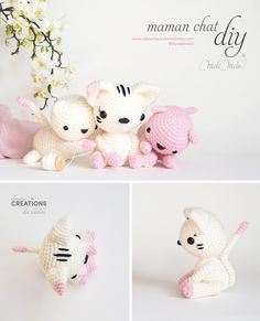 DIY maman chat , tuto crochet @laboutiquedemelimelo