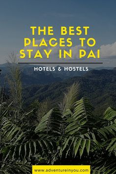Looking for good value for accommodation when you get to Pai, Thailand? Here are our tops picks on the best places to stay while in Pai Pai Thailand Hotels, Thailand Honeymoon, Thailand Travel Guide, Visit Thailand, Asia Travel, Chiang Rai, Koh Phangan, Tao, Bangkok