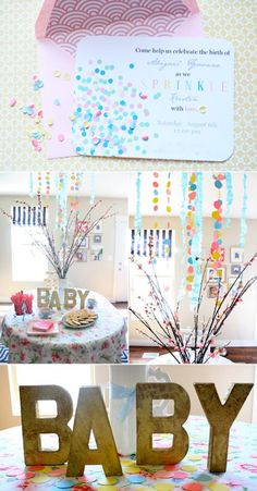 Sprinkle baby shower (or birthday party). Love it!