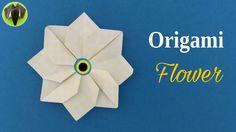 ORIGAMI FLOWER - Tutorial by Paper Folds - DIY