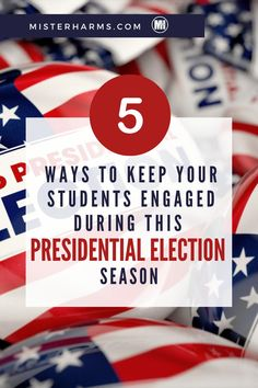 Are you looking for ways to ignite your students' curiosity about the election process? During election season is when all students become naturally curious about what's going on in the news, who the candidates are, and what each candidate believes. To capitalize on this natural curiosity, I want to share five proven ways to keep your students engaged, and excited to learn, during the presidential election season. #2020Elections #PresidentialElections #USGovernment Social Studies Classroom, Social Studies Resources, Teaching Social Studies, Teaching Resources, Teaching Ideas, Us Presidential Elections, Teaching American History, Election Process, Political Spectrum