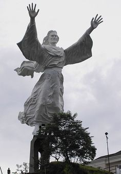 Christ Blessing, statue of Jesus Christ Manado City, Indonesia. 98ft +60ft base