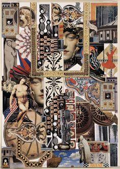 "Saatchi Art Artist JILL BARNES-DACEY; Collage, "" Medusa"" #art"