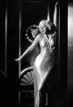 Jean Harlow in Dinner at Eight, 1933 Dress by Gilbert Adrian