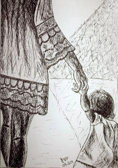 Dibujando un poco: madres e hijas