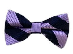 Classic Twill - Navy/Lavender (Bow Ties)