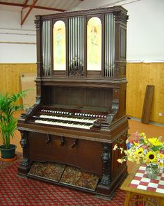Rousseau Harmonium Monumental from the collection of the French Harmonium Association