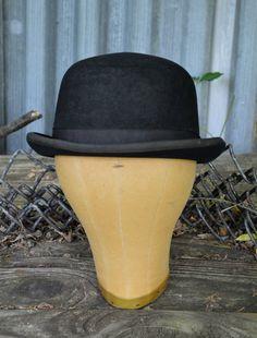 2fa1af778c2 Bowler Hat Vintage Hat 1920 s Bowler Hat by BuffaloGalVintage Mens Bowler  Hat