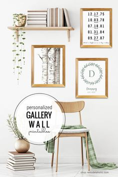 Personalized Gift Idea For Mom -- This Custom Name And Date Gallery Wall Printable Set is perfect for decorating your own home or for gifting for Mother's Day, Father's Day, housewarming, wedding, or baby shower. #gallerywall #personalizedart #printableart #personalizedgiftidea How To Make Personalised Gifts, Personalized Housewarming Gifts, Free Printable Gift Tags, Printable Art, Stocking Stuffers For Boys, Birch Tree Art, Cheap Gifts, Coffee Gifts, Creative Gifts