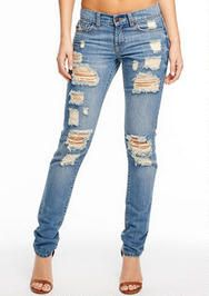 Danielle Destructed Relaxed Skinny Jean