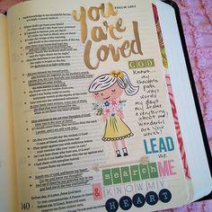 Journaling Bible - Psalm this Faith Bible, My Bible, Bible Scriptures, Scripture Art, Bible Art, Psalm 140, Bible Study Journal, Art Journaling, Scripture Journal