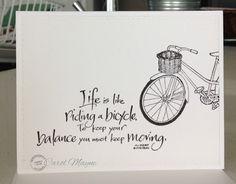 Just Me: c: Bike, Bike and Bike....Serendipity Stamps May Blog Hop #2