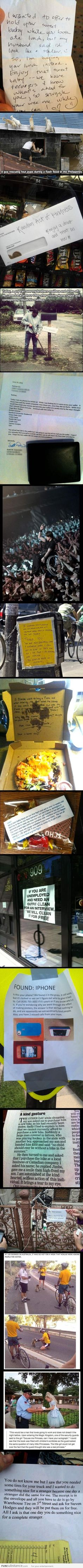 16 Unbelievable Acts Of Kindness. There's still hope in the world!