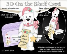 3D On the Shelf Card Kit Little Christmas Labrador Dog on Craftsuprint - View Now!