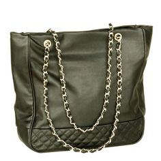 [Last Dance] Stylish Black Double Handle Leatherette Bag Handbag Purse