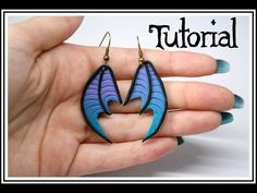 Easy Dragon Wing Earrings polymer clay tutorial