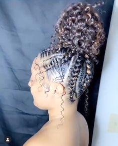 Fabulous Braid Frisur # erstklassige Zöpfe ~ Switch Afrique - New Site Box Braids Hairstyles, Braided Ponytail Hairstyles, Braided Hairstyles For Black Women, Ponytail Styles, Baddie Hairstyles, Braids For Black Hair, African Hairstyles, Curly Hair Styles, Natural Hair Styles