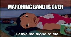 """So sad this was my last marching season i love marching band :""""("""