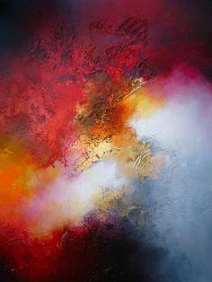 "Große abstrakte Gemälde von Künstler Simon Kenny ""Dunkle Materie"" von SimonkennysPaintings auf Etsy https://www.etsy.com/de/listing/164334463/groszlige-abstrakte-gemaumllde-von"