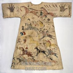 NORTEAMERICA INDIOS SIOUX TUNICA DEL SIGLO XVIII