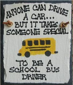 Joe loved his one year on a school bus because of Larry and Sue! This is so very true!!!