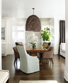 possible layout instead of banked in nook  Classic Shingle - traditional - dining room - chicago - Tiburon Homes LLC