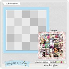 Scrapping with Liz: Insta Wall Art - FREE Template