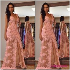New Style Prom Dress Blush Pink Evening Gowns lace Prom Gowns PD20186379
