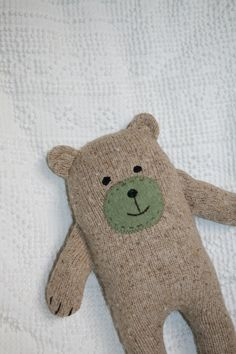 Upcycled Wool and Angora Sweater Little Wooly Bear Plush Brown