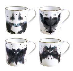 Ink Blot Mugs. Love these!