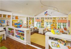 Modern Gorgeous And Clever Kids Playroom Design Ideas On Home Decorating With Creative Interior Craft Room Design Ideas With Storage Shelves Kids Sweet Home, Playroom Design, Playroom Ideas, Playroom Storage, Daycare Design, Attic Playroom, Nursery Ideas, Daycare Nursery, Playroom Paint