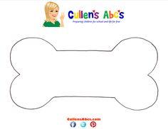 Dog Bone pattern | Cullen's Abc's free Online Preschool  http://cullensabcs.com/patterns/dog-bone/