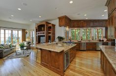 Open concept kitchen and living room