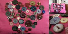 Buttons of Love - a cute heart created using vintage buttons