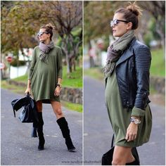 Inspiring Maternity Fashion Outfits Ideas for Fall and Winter #pregnancydress, #pregnancyclothes, #maternityoutfits