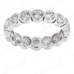 1.60 Ct Diamond Wedding Ring Eternity Band H SI2 New | eBay