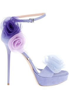 The colors are so soft & sweet... and the heels are so HIGH!!!  Yikes!