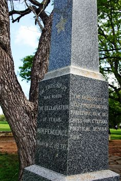 On this spot, Texas's Declaration of Independence from Mexico was signed, March 2, 1836.