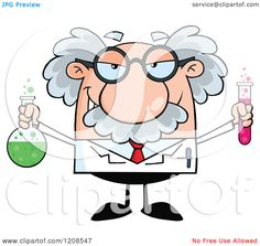 Mad Scientist Or Professor Holding A Bottle And Flask With Fluids Scientist Cartoon, Crazy Scientist, Mad Scientist Party, Mad Professor, Typing Skills, Cartoon Images, Arthritis, Vector Art, Vector Clipart