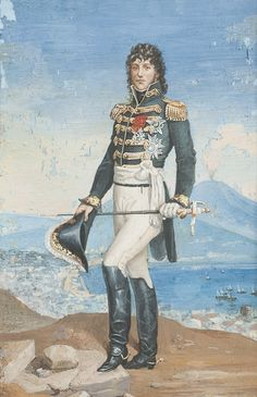 A portrait of Joachim Murat.