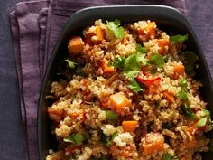Get Spicy Quinoa with Sweet Potatoes Recipe from Food Network
