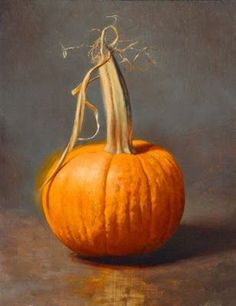 Drew Ernst, October Pumpkin, oil on panel, 10 x 14 inches Painting Still Life, Still Life Art, Pumpkin Oil, Sugar Pumpkin, Fruit Painting, Autumn Aesthetic, Gifts For Photographers, Fall Pictures, Painted Pumpkins