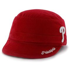 7bed55f57c39f Women s Philadelphia Phillies  47 Red Avery Military Adjustable Hat