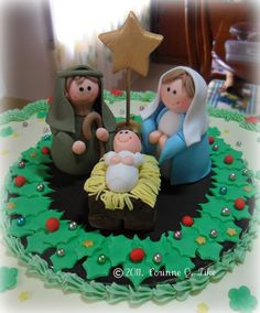 christmas figures in fondant | ... Christmas Part 2. Isn't it lovely? I just wanted the figures and not