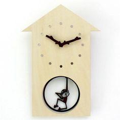 Swinging Monkey Wall Clock